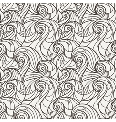 Seamless hand-drawn pattern of curls vector