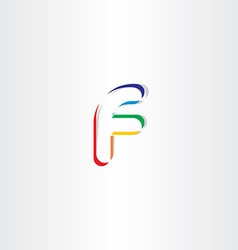 Logo colorful letter f icon element vector