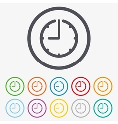 Clock time sign icon watch or timer symbol vector