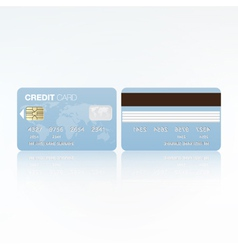 Bank card vector