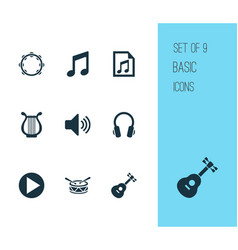 Audio icons set collection of instrument vector
