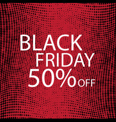 black friday black dots on red background vector image vector image
