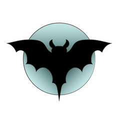 black silhouette of bat picture on a theme of vector image vector image
