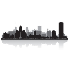 Buffalo usa city skyline silhouette vector