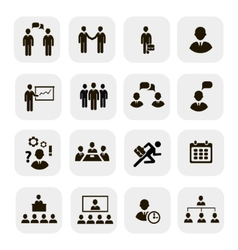 Business people meetings icons vector image