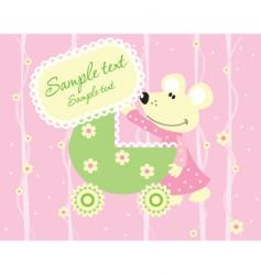 card mouse vector image vector image