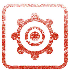 Cog wheel framed textured icon vector