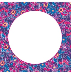 Colorful seamless floral pattern with place for vector image