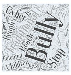 Cyber bullying vs traditinal bullying word cloud vector