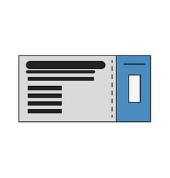 flight ticket passboard vector image vector image