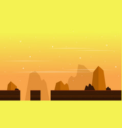 Game background with cliff scenery vector