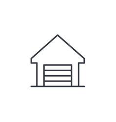 Garage thin line icon linear symbol vector