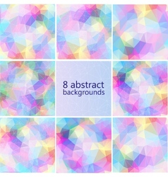 geometric hipster retro background set vector image vector image