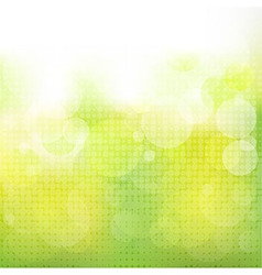 Green Natural Background With Boke vector image