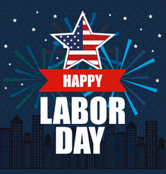 Happy labor day national patriotic celebration vector