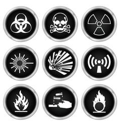 Hazard Icons vector image
