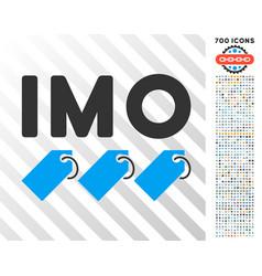 Imo tags flat icon with bonus vector
