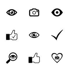 like icons set vector image