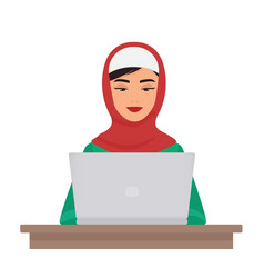 Muslim business pretty woman in traditional vector