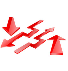 Red arrow red indication arrows down arrows vector