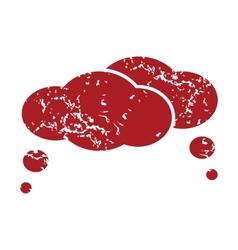 Red grunge dialog logo vector