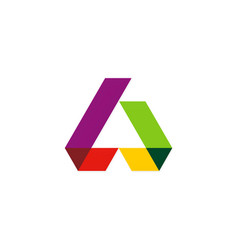 shape colorful construction logo vector image vector image