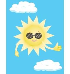 sun in sunglasses vector image vector image
