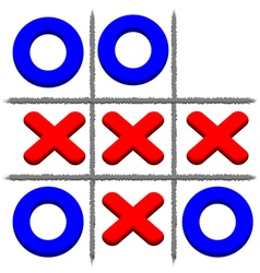 Tic Tac Toe vector image vector image