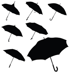 Umbrella black silhouette vector