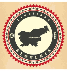 Vintage label-sticker cards of Slovenia vector image vector image