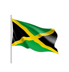 waving flag of jamaica vector image