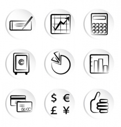 web icon set vector image