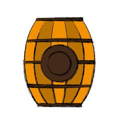 wooden barrel icon vector image vector image