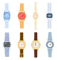 Wrist watch isolated set vector image vector image