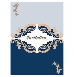 Floral ornament Invitation card vector image