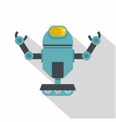 Machine robot icon flat style vector