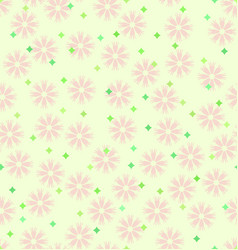Spring flower pattern with stars seamless vector