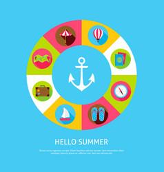 Concept hello summer vector