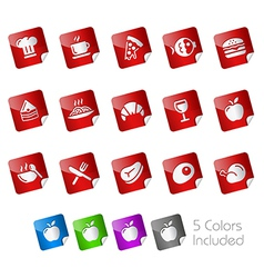 Food stickers vector