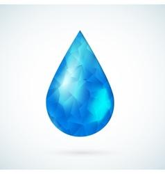 Blue raindrop geometric background vector image
