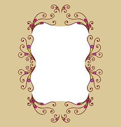 Decor frame vector