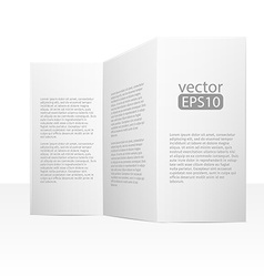 Close up of a leaflet blank white paper on white vector