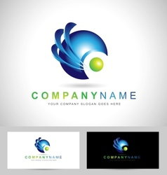 Corporate blue sphere vector