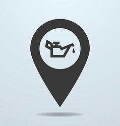 Map pointer with a oiler symbol vector image