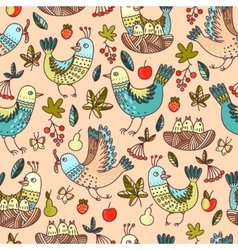 Birds and fruit vector