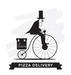 Pizza delivery service icon vector