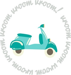 Scooter vroom vector