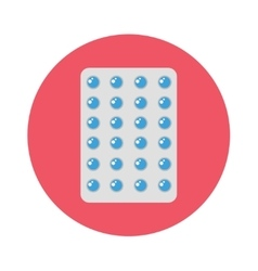 Pills pack blister icon of medication vector
