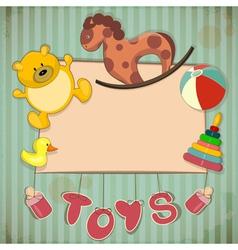 Vintage Design Toys Frame vector image