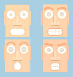 abstract avatar art and design flat vector image vector image